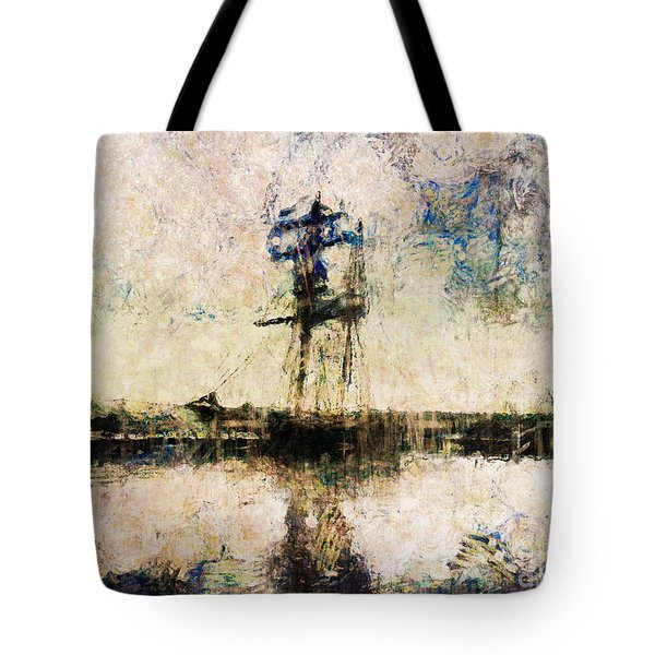 Tote Bag featuring the photograph A Gallant Ship by Claire Bull