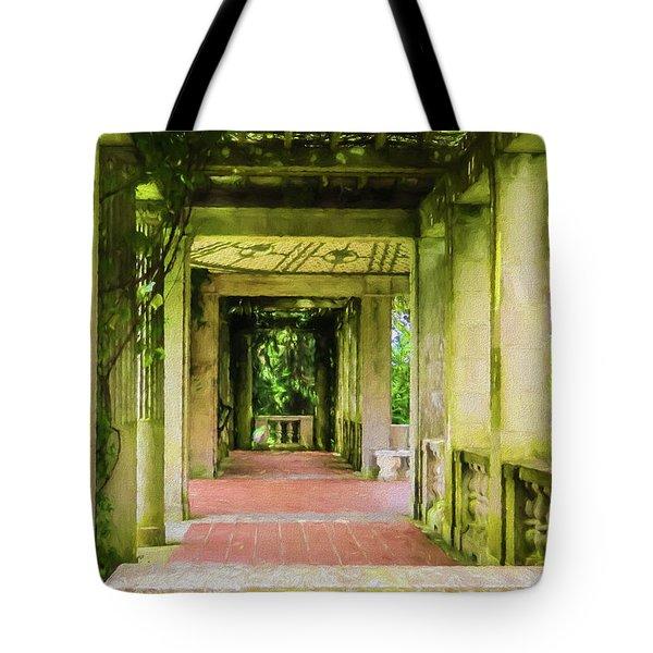 A Garden House Entryway. Tote Bag
