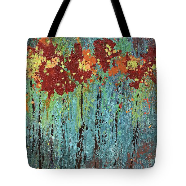 Tote Bag featuring the painting a garden I once knew by Annie Young Arts
