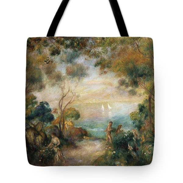 A Garden In Sorrento Tote Bag by Pierre Auguste Renoir
