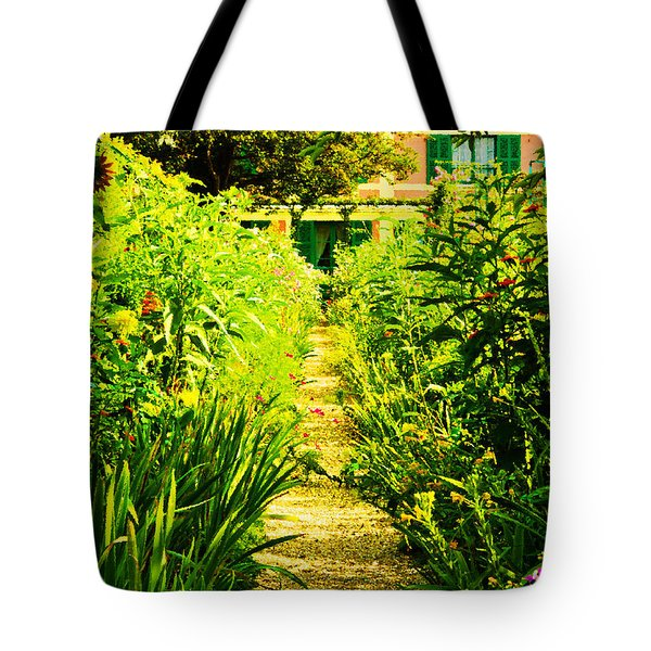 Tote Bag featuring the photograph A Garden Path Home by MaryJane Armstrong