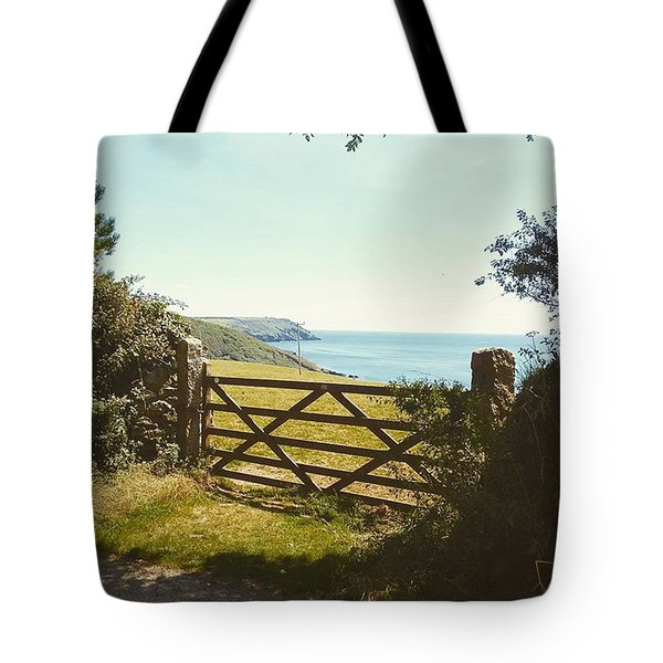 A Gate To The Sea. Where The Coastline Tote Bag