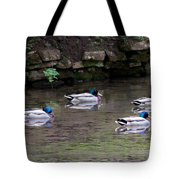A Gathering Of Men Tote Bag