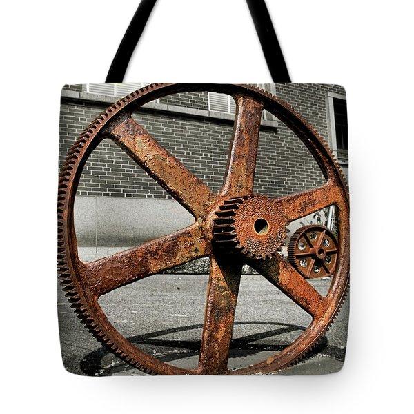 A Gear In A Gear Tote Bag