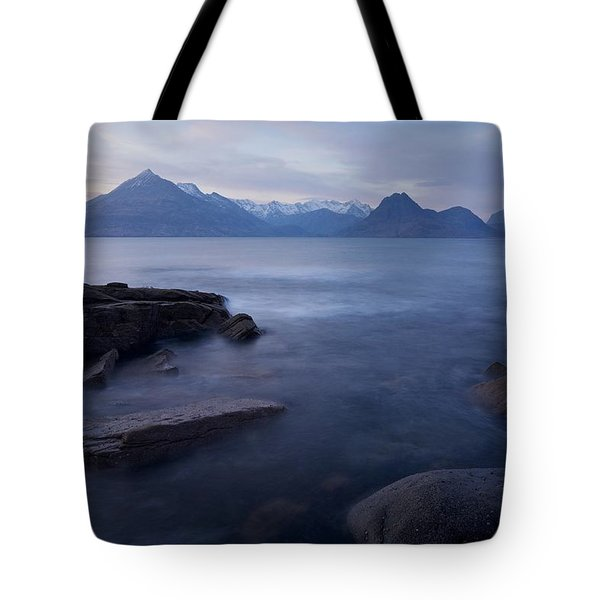 A Gentle Sunset At Elgol  Tote Bag