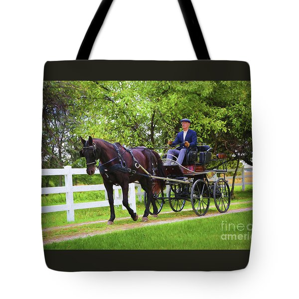 A Gentleman's Sunday Ride Tote Bag