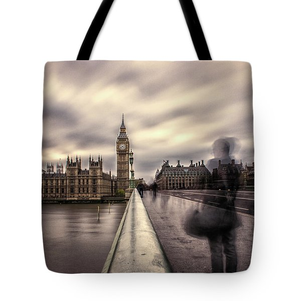 A Ghostly Figure Tote Bag by Martin Newman
