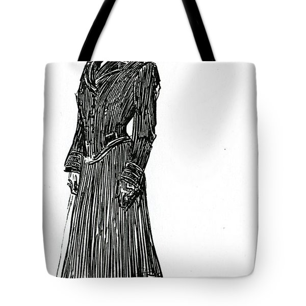 A Gibson Girl In A Dress Tote Bag