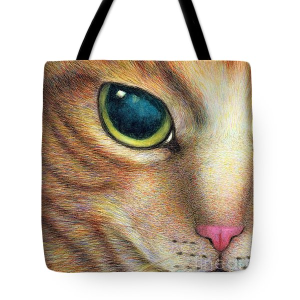 A Ginger Cat Face Tote Bag