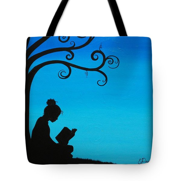 A Girl And Her Book Tote Bag