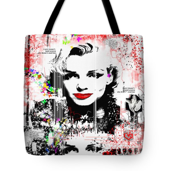 A Girl Tote Bag by Sladjana Lazarevic