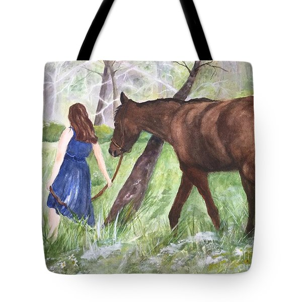 A Girl's Best Friend Tote Bag by Lucia Grilletto