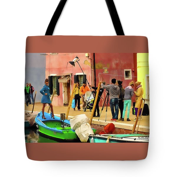 A Glamour Shoot In Burano Tote Bag