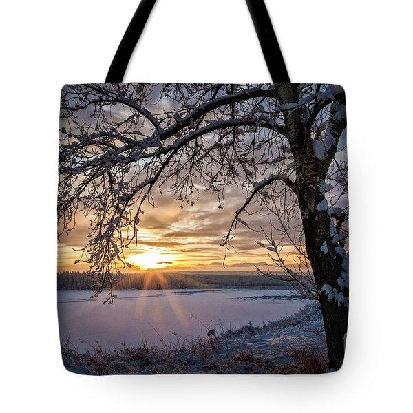 A Glenmore Sunset Tote Bag by Brad Allen Fine Art