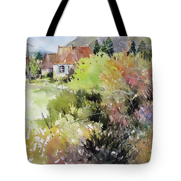 A Glimpse Beyond The Brambles, France.. Tote Bag by Rae Andrews