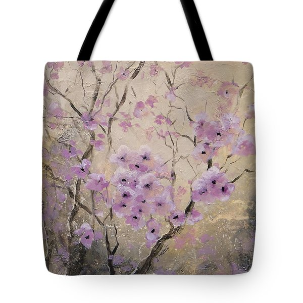Tote Bag featuring the painting A Glow by Laura Lee Zanghetti