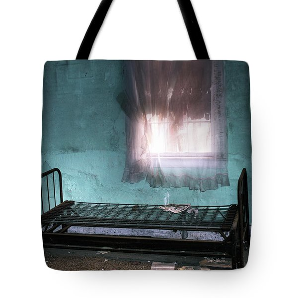 Tote Bag featuring the photograph A Glow Where She Slept by Wayne King