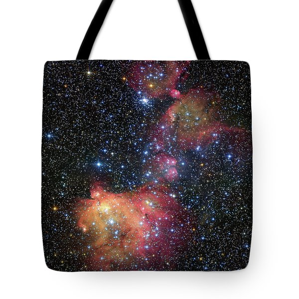 Tote Bag featuring the photograph A Glowing Gas Cloud In The Large Magellanic Cloud by Eso
