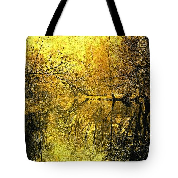 A Golden Tribute To Collins Creek Tote Bag by Jim Vance