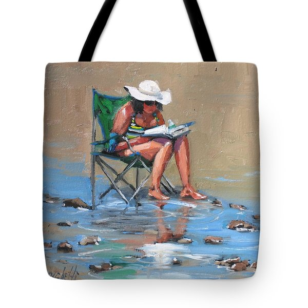 A Good Read Tote Bag by Laura Lee Zanghetti