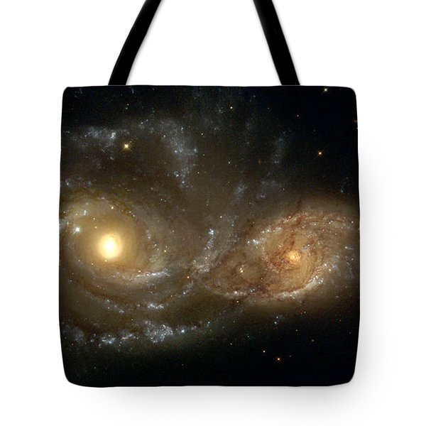 A Grazing Encounter Between Two Spiral Galaxies Tote Bag