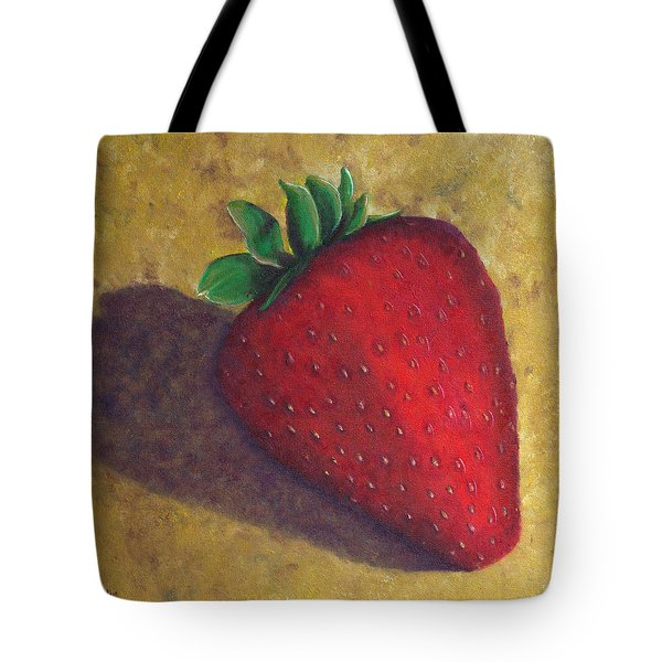 A Great Big Strawberry Tote Bag by Helen Eaton