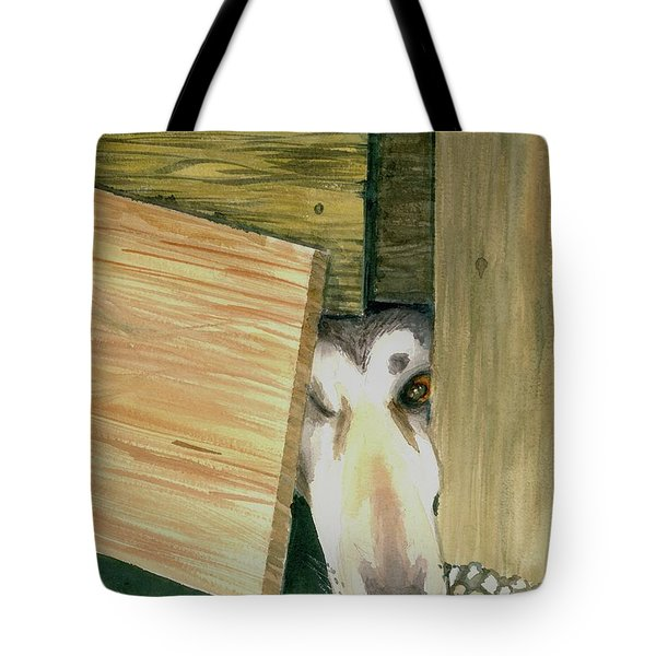 Tote Bag featuring the painting A Great Escape  -variation 2 by Yoshiko Mishina