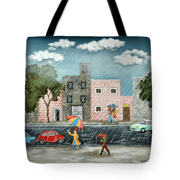 A Great Rainy Day Tote Bag
