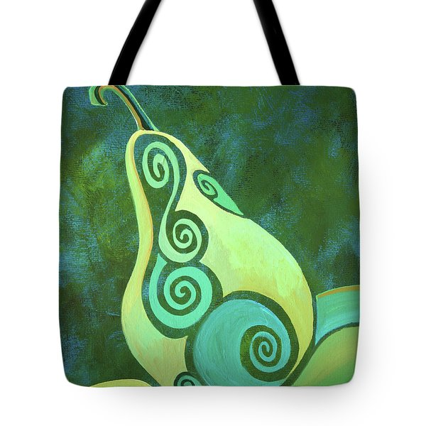 A Groovy Little Pear Tote Bag