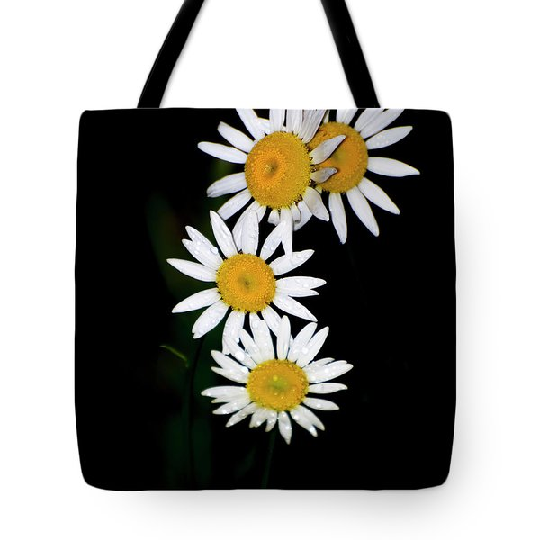 Tote Bag featuring the digital art A Group Of Wild Daisies by Chris Flees