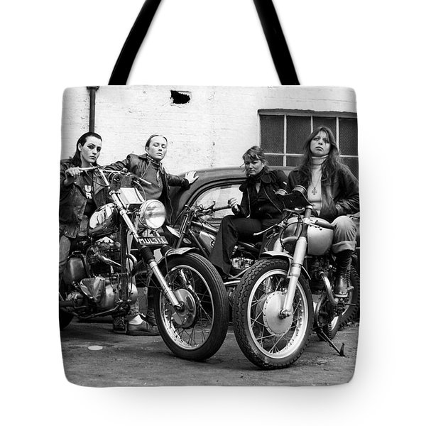 A Group Of Women Associated With The Hells Angels, 1973. Tote Bag