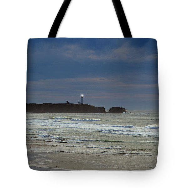 Tote Bag featuring the photograph A Guiding Light by Jim Walls PhotoArtist