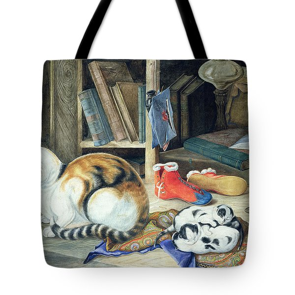 A Happy Family Tote Bag by William A Donnelly