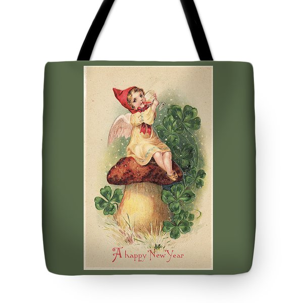 A Happy New Year Greeting Tote Bag