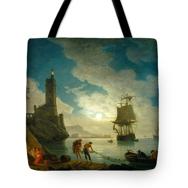 A Harbor In Moonlight Tote Bag