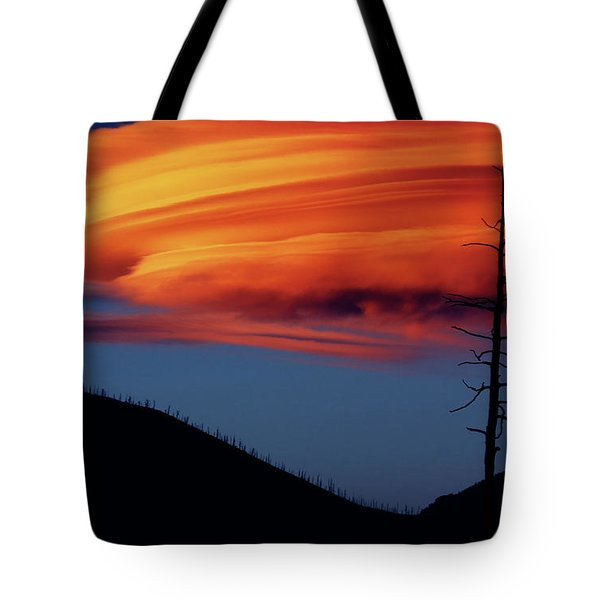 A Haunting Sunset Tote Bag