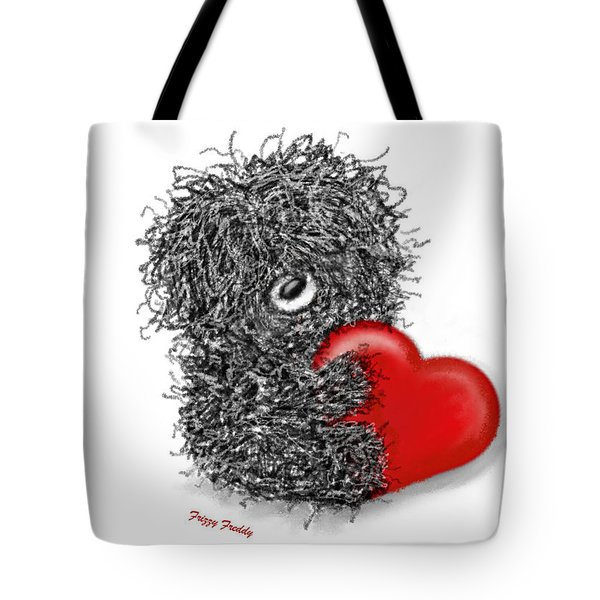 Frizzy Freddy- A Heart Just For You Tote Bag