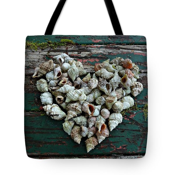 A Heart Made Of Shells Tote Bag by Patricia Strand