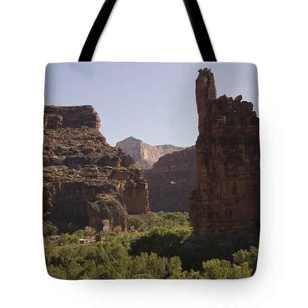 A Helicopter Flies Tote Bag