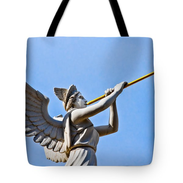 A Herald Sounds Off Tote Bag by Christopher Holmes