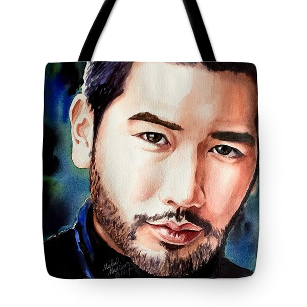 Tote Bag featuring the painting A Hero's Heart by Michal Madison