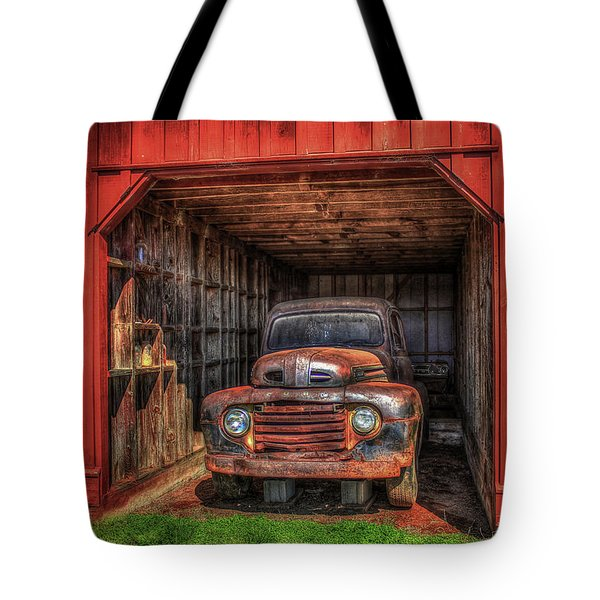 A Hiding Place 1949 Ford Pickup Truck Tote Bag
