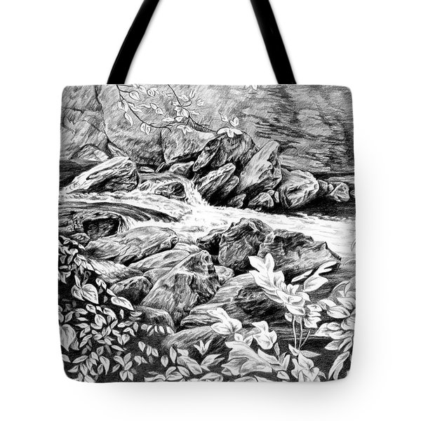 A Hiker's View - Landscape Print Tote Bag