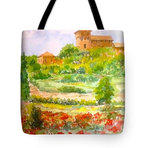 A Hillside Near San Gimignano Tote Bag