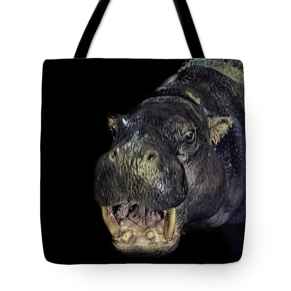 A Hippos Smile Tote Bag by Martin Newman