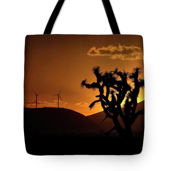 Tote Bag featuring the photograph A Holy Joshua Tree by Peter Thoeny