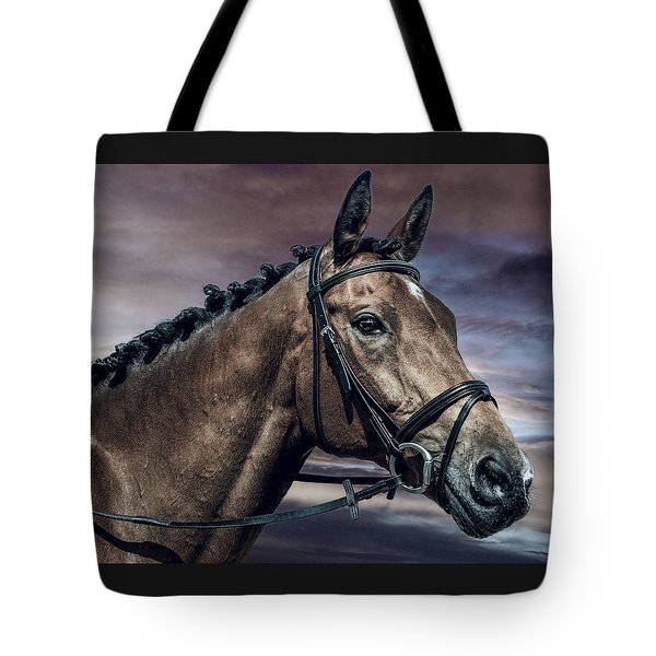 Tote Bag featuring the photograph A Horse Called Zi by Brian Tarr
