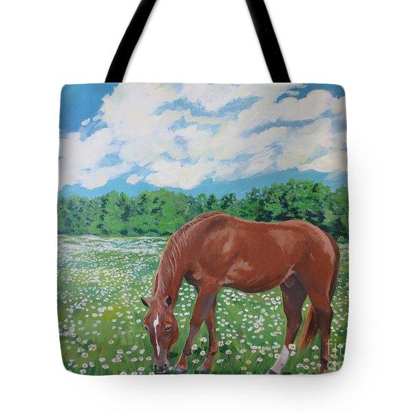 A Horse Named Dante Tote Bag