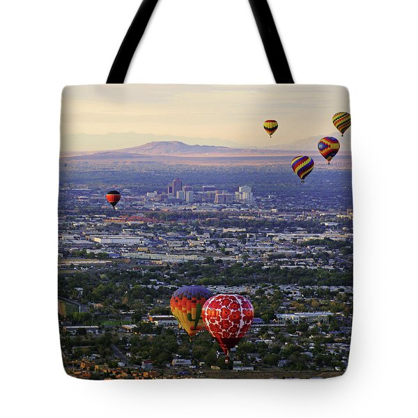 A Hot Air Ride To Albuquerque Cropped Tote Bag by Daniel Woodrum