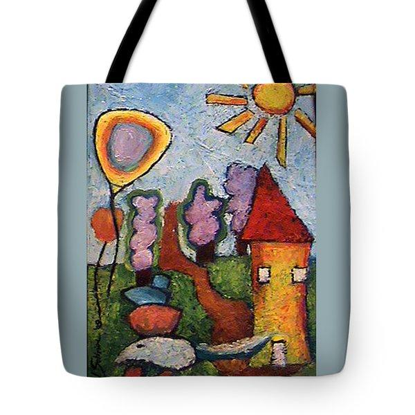 A House And A Mouse Tote Bag by Ioulia Sotiriou